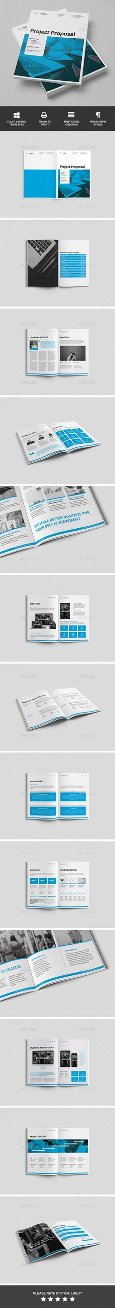 Clean Project Proposal Template InDesign INDD design