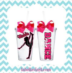 Stay hydrated while watching your tiny dancer.   Please note the following at checkout:  1.Colors: (up to 3) 2. Dancer Silhouette: (by letter from Picture 2) 3. Name: *Any missing info will delay production time.*  Want a bigger tumbler? Please purchase this listing AND the upgrade found ...