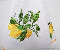 Machine Embroidery Design Lemon Branch  2 sizes by RoyalPresentEmb