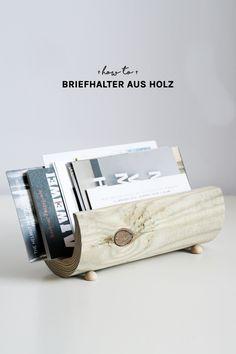 Super stylischer Briefhalter aus Holz l Möbel selber machen