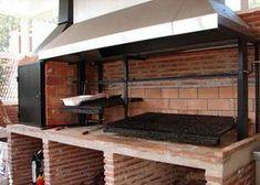 barbacoa argentina de obra Brick Grill, Wood Grill, Diy Grill, Brick Ovens, Bbq Kitchen, Backyard Kitchen, Outdoor Kitchen Design, Outdoor Oven, Outdoor Cooking