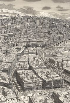 Stefan Bleekrode Draws Incredibly Detailed And Dense Cityscapes From Memory
