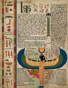 Isis, Book of Shadows page, Ancient Egyptian Gods and Goddesses Egyptian Mythology, Egyptian Symbols, Ancient Egyptian Art, Egyptian Isis, Ancient History, Art History, Isis Goddess, Egyptian Goddess, Wicca