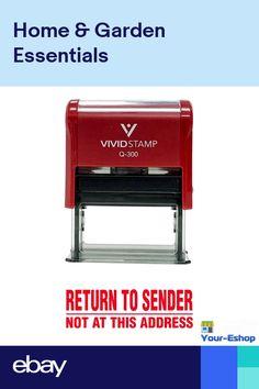 Rubber Stamp Return To Sender Address Ink Stamps Self Inking Stamper For Office