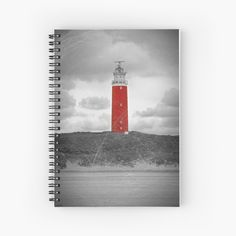 'The Eierland Red Lighthouse, Texel, Netherlands' Spiral Notebook by Sizzlinks Notebook Design, Sell Your Art, Lighthouse, Creative Design, Netherlands, Spiral, Places To Visit, My Arts, Things To Come