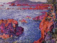 "Theo van Rysselberghe, ""Rocks at Antheor"", 1906, Private Collection"