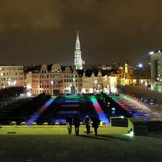 Mont des Arts - Kunstberg © w1ms Brussels, Dolores Park, Photo And Video, Night, World, Travel, Belgium, Viajes, Destinations