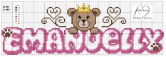 Cross Stitch For Baby, Female Names, Cross Stitch Letters