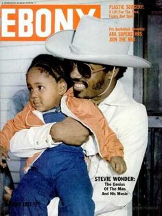 """superseventies: Stevie Wonder on the cover of Ebony magazine, January 1977. """