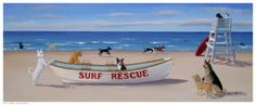 Surf Rescue Art Print