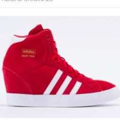sports shoes 19f45 39253 Adidas Original Profi Up sneakers Red and white suede sneaker wedge 3
