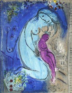 Marc Chagall - Quai aux Fleurs. 1954.