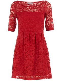 Petite red lace dress - Petite Clothing - New In Clothing - What\'s New - Dorothy Perkins Little Red Dress, Black Pantyhose, Petite Outfits, Womens Fashion Online, Red Lace, Holiday Dresses, Dress Me Up, Dress To Impress, Lace Dress