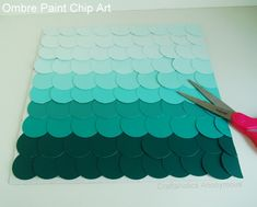 Ombre paint chip art! click for instructions