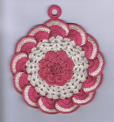 Raised Rose Potholder - free