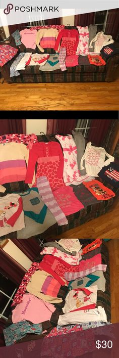 Huge lot of name brand girls sz 7/8 clean clothes All brands include Gap , Children's place , etc all seen tops , short and long sleeve , jean jeggings , leggings sleepwear , dresses , skirts etc ... mix lot Girls 7/8 Accessories