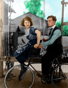 Sybil Seely and Buster Keaton at his studio