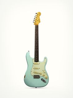 I love this color! The Strat's pretty sexy, too.   Fender Stratocaster