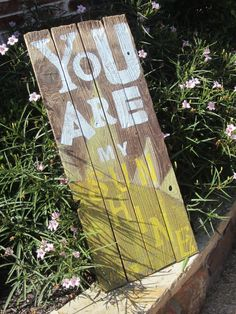 You are my sunshine reclaimed wood art by lovinmyboys on Etsy, $75.00