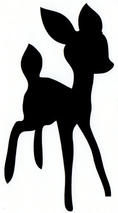baby deer self adhesive vinyl decal (No.26). $2.75, via Etsy.
