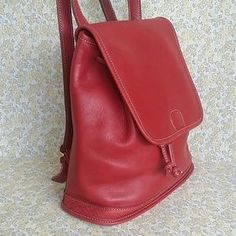 Coach Handbags - SALE Vintage Coach Gorgeous Red Leather Backpack