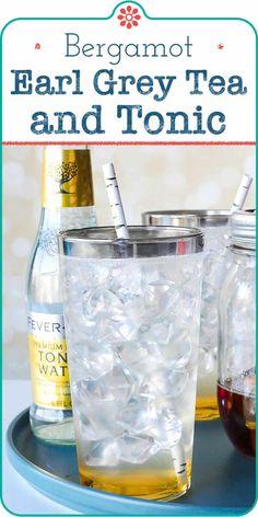 Earl Grey Tea and Tonic Recipe Non Alcoholic Cocktails, Tea Cocktails, Drinks Alcohol Recipes, Non Alcoholic Drinks Using Tonic Water, Drink Recipes, Virgin Cocktails, Alcoholic Desserts, Water Recipes, Cocktail Recipes