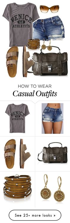 """""""Casual"""" by alice-fortuna on Polyvore featuring Aéropostale, Proenza Schouler, TravelSmith, Vince Camuto, Sif Jakobs Jewellery and Oliver Peoples"""