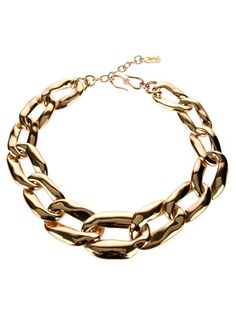 YVES SAINT LAURENT VINTAGE  LARGE GOURMETTE NECKLACE