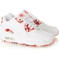 Nike QuickStrike Air Max 90 London textured-leather and rubber... (10865 DZD) ❤ liked on Polyvore featuring shoes, sneakers, nike, nike shoes, white trainers, nike sneakers, rubber sneakers and white sneakers