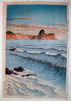 Shinbeshi Bikuni, by Kawase Hasui, no date Japanese Art Prints, Japanese Artwork, Japanese Painting, Style Asiatique, Art Asiatique, Asian Landscape, Japanese Landscape, Japanese Woodcut, Style Japonais
