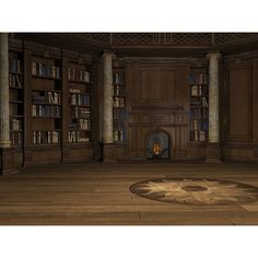 Mage Library ❤ liked on Polyvore featuring backgrounds, rooms, empty rooms, interior and furniture