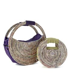 RECYCLED NEWSPAPER HANDBAGS