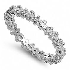Claire's Slim Baguette & Round CZ Eternity Ring - Only $42.95 — Fantasy Jewelry Box