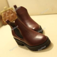 Casual Leather Purity Women's Shoes Boots NST-249356 TinyDeal  #mythanksgivingwishlist