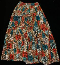 Southwestern Tiered Maxi Skirt Navajo Ikat by SycamoreVintage, $19.99 sale price