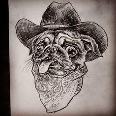 Cowboy pug!