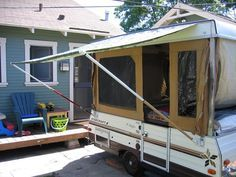 Extendable Paint Poles And Flag Mounts To Support The Awning