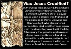 So let me see if I got it. Christianity was hijacked by Romans (Constantine) for political ends & they cherry picked the bits they wanted woven in with their own pagan worship to make it more palatable to the people. The word cross/crucified isn't actually in Bible. In Greek the word 'Stauros' means stake, upright pole - no cross bar ~ KJ