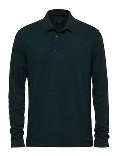 Polo à manches longues vert FW16 9907650 | Zegna