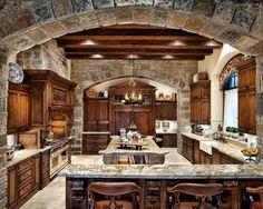 Wow! How beautiful is this? What more could you want in a dream #kitchen?
