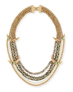 Marjorelle+Beaded+Five-Strand+Necklace+by+Lulu+Frost+at+Neiman+Marcus.