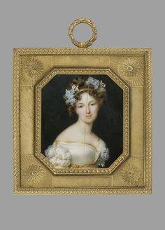 Millet, Frederic (1786-1859) Portrait of Elisabeth Woroncow, nee Branicka 1819, Warszawa, Muzeum Narodowe