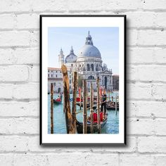 Venice Canal Photo Print - Basilica di Santa Maria - Italy Photography - Gondola Venice - Italy Photo Print - Wall Decor - Travel Wall Art Gondola Venice, Venice Canals, Venice Italy, Travel Wall Art, Santa Maria, Wall Prints, Wall Decor, Photography, Painting