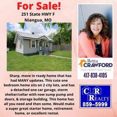 Missouri Real Estate, Sump Pump, 2nd City, Starter Home, Built In Storage, One Bedroom, Car Garage, Cellar, Schedule