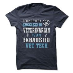 Are you an exhausted Vet Tech? Show that you work hard with this cool shirt!