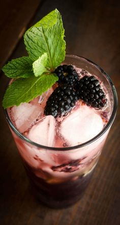 This Blackberry Mojito is blended with rum and blackberry brandy liqueur. Muddled with mint and fresh blackberries to give your Mojito a very berry punch.