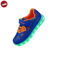 Shinmax Frühling-Sommer Neu ins Leben gerufen Kid LED Turnschuhe 7 Farb-LED-Schuhe mit CE-Zertifikat (36,Rosa)