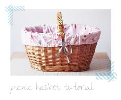 picnic basket cover #tutorial