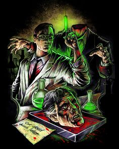 Re-Animator V2 [01342] - $27.00 : Horror T-Shirts : FRIGHT-RAGS, Horror Shirts