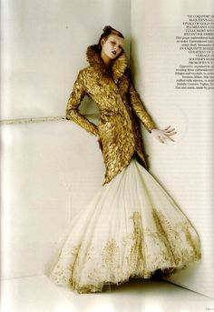 Tim Walker | Karlie Kloss in Golden feathers